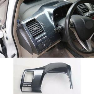 Image 4 - 14 adet Honda Civic 8th Gen 2006 2011 ABS karbon Fiber tarzı araba iç dekor kapak Trim CD panelli kapı kol dayama araba Styling