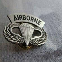 Американский военный десантник Парашютист булавка крылья металлический значок