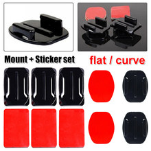 Adhesive Mounts For Go Pro 7 6 5 4 3 Curved Flat Mounts Sticky Pads for Go Pro Xiaomi Yi SJCAM Action Camera Helmet Board Car(China)