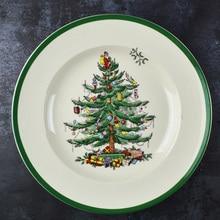 4 Pcs 6.5 INCH  Christmas Tree Plate Ceramic Breakfast Beef Dishes Dessert Dish Fruit Snack Simple Creative Animal