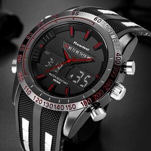 Image 2 - Montre de Sport de marque Readeel pour hommes montres haut de gamme de luxe pour hommes montre bracelet étanche à LED électronique numérique pour hommes relogio masculino