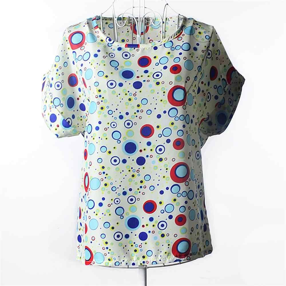 女性 Tシャツ夏半袖女性シフォンシャツカジュアルシャツ薄型女性トップス Blusas 固体レディース安い服中国
