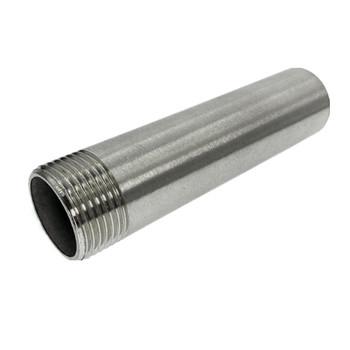 DN8-DN50 gwinty męskie bsp długość 100 MM-300 MM 304 łącznik rur ze stali nierdzewnej spawanie złącze sutek złącze do wody olej powietrze tanie i dobre opinie WZJG Równe STAINLESS STEEL Union default round