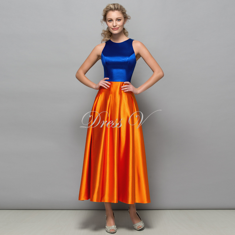 Aliexpress.com : Buy Royal Blue and Orange Designer Evening ...