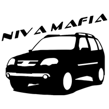 CK2504#15.5*20cm NIVA MAFIA funny car sticker vinyl decal silver/black auto stickers for bumper window decorations