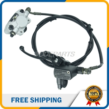 Motorcycle Parts Motorcycle Front Hydraulic Brake Assembly With Brake Pads Hydraulic Cable For ATV Dirt Pit Bike Free Shipping