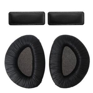 Image 1 - 1 takım Siyah Yumuşak Köpük kulak Yastıkları kulaklık yastığı Bardak Yastık saç bandı seti Yedek Sennheiser RS160 RS170 RS180 Kulaklıklar