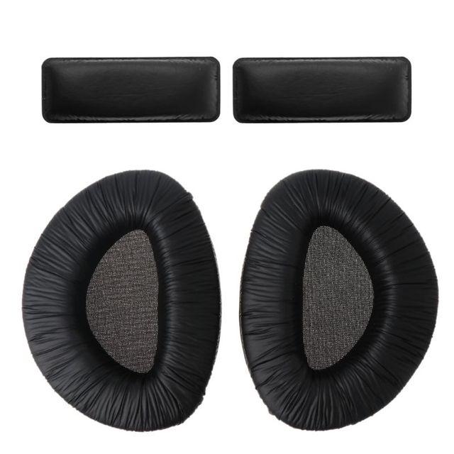 1 مجموعة الأسود لينة رغوة منصات الأذن وسادة الكؤوس وسادة مع مجموعة عصابات رأس استبدال ل Sennheiser RS160 RS170 RS180 سماعات