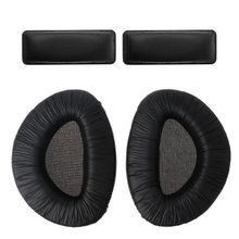 1Set Black Soft Foam Earpads Ear Pad Cups Cushion with Headband Set Replacement for Sennheiser RS160 RS170 RS180 Headphones