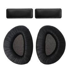 1Set Nero Morbida Schiuma Cuffie Ear Pad Coppe Cuscino con la Fascia Set di Ricambio per Sennheiser RS160 RS170 RS180 Cuffie