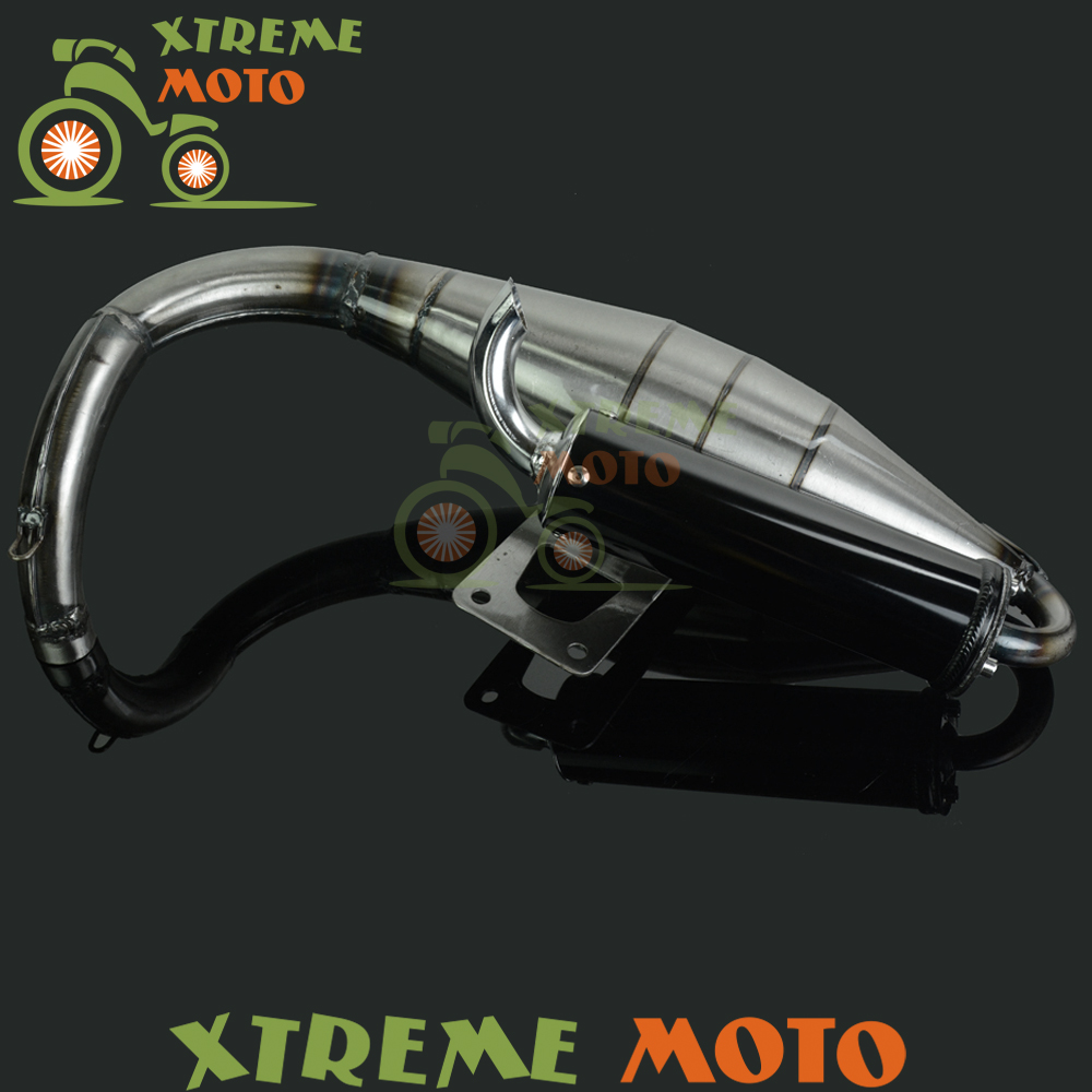 Full Exhaust System Muffler Pipe Scooter Moped Racing Street Bike For Honda ZX50 ZX 50 free shipping new style motorcyle accessories carbon fiber motorcycle exhaust pipe muffler for kawasak zx 6r zx 9r zx 10r