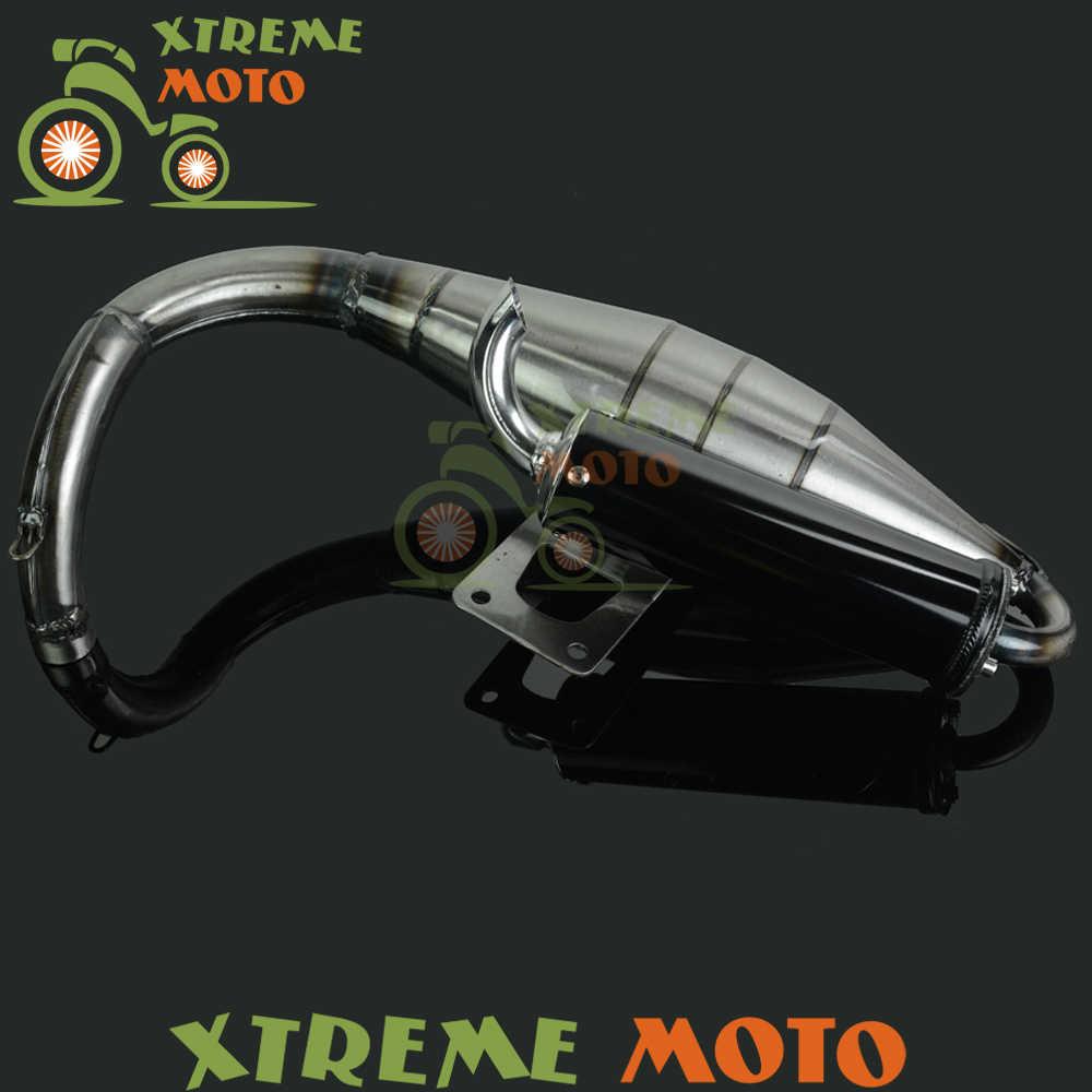 Penuh Sistem Knalpot Muffler Pipa Skuter Moped Racing Jalan Sepeda Untuk Honda ZX50 ZX 50