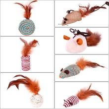 7 Pcs Cat Funny Feather Toys Sets Cat Toys Interactive Elastic Rod Has a Funny Cat Mouse  Feather Chick Fish Mascotas Pets Toys-in Cat Toys from Home & Garden on Aliexpress.com   Alibaba Group