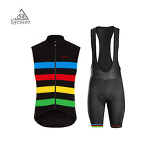 4 color horizontal bar sleeveless clothing 2017 Eyessee pro high quality breathable sleeveless bicycle clothing cycling clothes