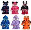 Nuevos Niños Pijamas Robe Niños Con Capucha Ropa Niños Niñas Mickey Minnie Albornoces Homewear de Dibujos Animados Bebé Ropa de Bebé