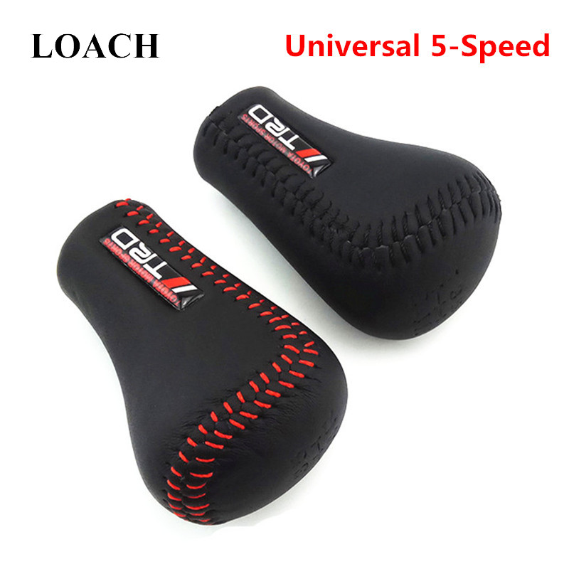 Universal TRD PU Leather Gear Shift Knob Gearshift Shifter Stick Lever Headball MT Pen POMO ARM MOMO For TOYOTA TRD Gearshifter