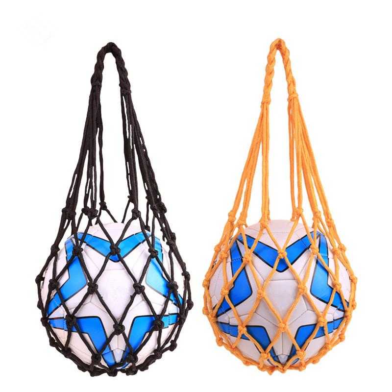 Weaving Nylon Net Bag Ball Carrying Mesh Net Bag Sports Portable Equipment Football Balls Volleyball Ball Net Bag