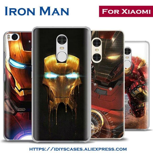 on sale e6b62 22098 US $2.8 |The Avengers IronMan Coque Phone Case Shell Cover For Xiaomi Redmi  Note 2 3 4 4X 5A 5 Pro Mi 4 5 5S Plus 5X 6 MiA1 Minote 2 3-in Half-wrapped  ...