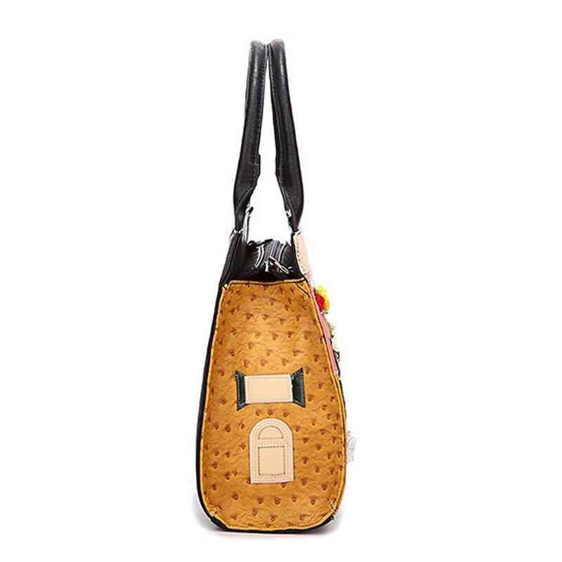IPinee haute qualité sac à main décontracté dames PU cuir Cube sac bande dessinée sacs à bandoulière femmes sacs à main marques célèbres - 3