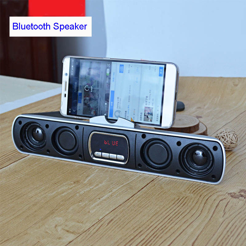 Bluetooth Mobile Phone Speaker Mp3 Player USB Disk TF Card Slot FM Radio For Laptop Portable Computer Loudspeaker Amplifier 2X5W l 288 portable fm radio stereo speaker mp3 music player double loudspeaker with tf card usb disk input gift for parents