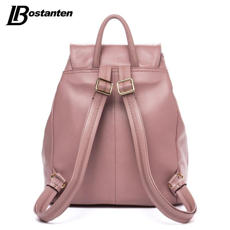 genuína mulheres de couro mochila Material Principal : Couro Genuíno