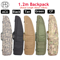 Tactical About 120cm Heavy Duty Tactical Shotgun Carrying Bag Airsoft Hunting Rifle Shoulder Backpack Shooting Gun Backpack