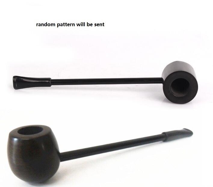 5pcs/lot Portable black Ebony wood smoking pipe Popeye tobacco pipes man cigarette smoke smoking gift classical wooden herb pipe