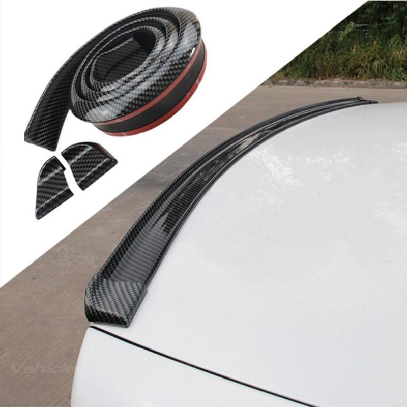 Auto Stamm 3D Real Carbon Fiber Spoiler DIY Stil Deckel Spoiler Flügel Lip