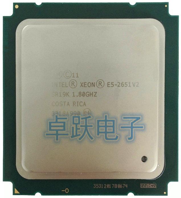 Intel Xeon Processor E5-2651 V2 E5 2651 V2 CPU 1.8 LGA 2011 SR19K Twelve Cores Desktop Processor E5 2651V2 E5 2651