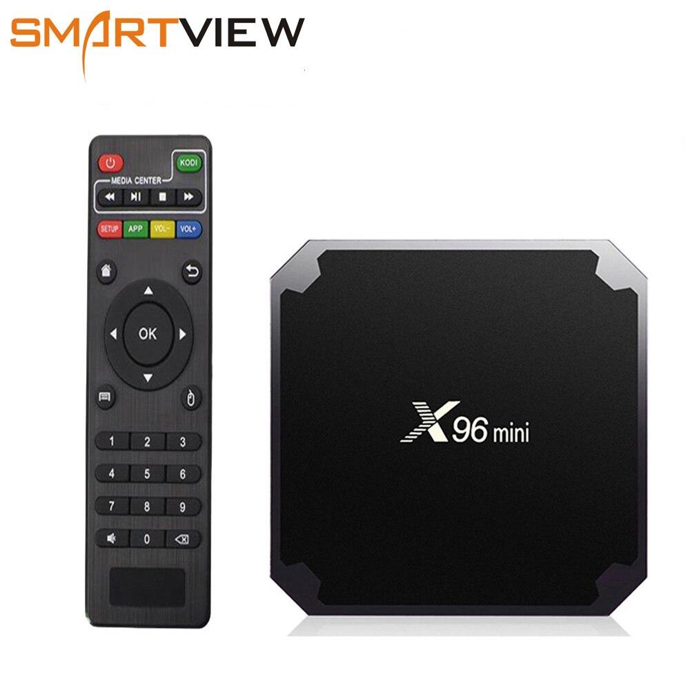 X96 mini caja de TV inteligente Android 7,1X96 2 GB 16 GB 1 GB 8 GB Amlogic S905W Quad core 4 K 30tps 2,4 GHz WiFi X96mini Set top box