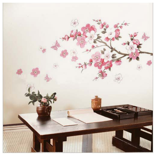 PINK CHERRY BLOSSOM TREE Wall Stickers Flowers Decals Part 42