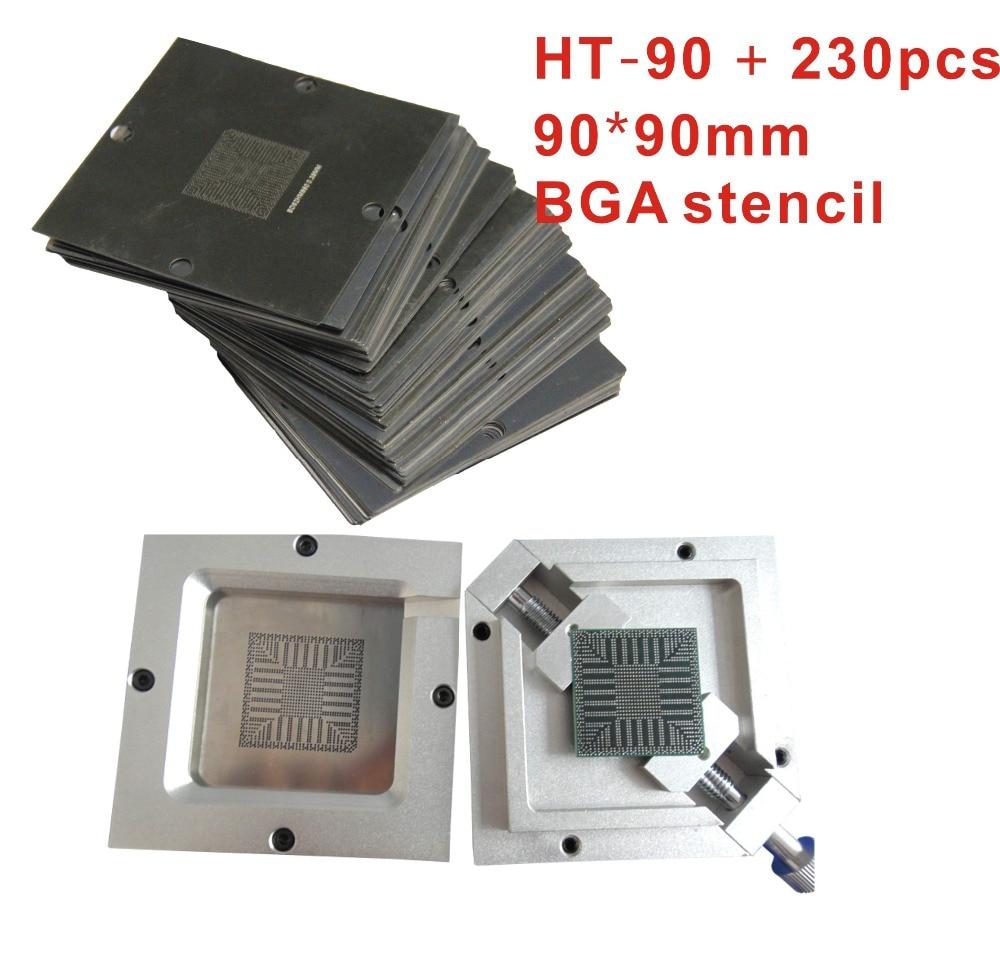 Factory shipping 90*90mm HT-90 HT-80 BGA sik Chu Taiwan bumping jigs universal sik Chu Taiwan send 230PCS sgmd 08ada 90