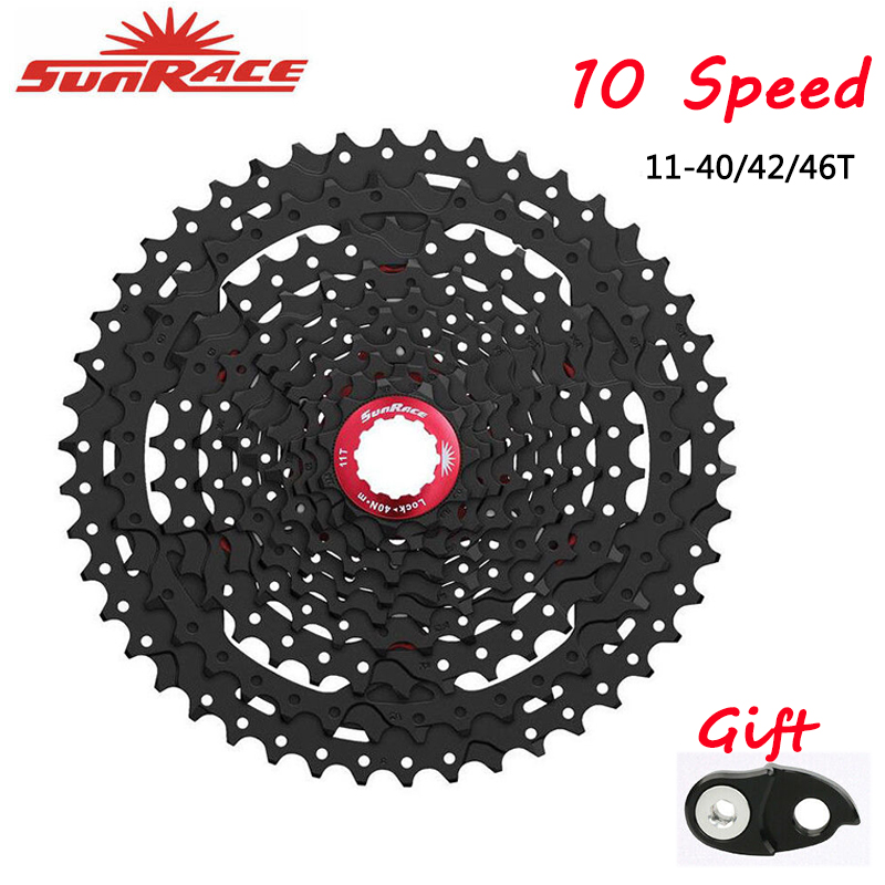 SunRace 10 <font><b>Speed</b></font> CSMS3 CSMX3 Bicycle Freewheel 11-40T 11-42T 11-46T Wide Ratio bike Mountain Bicycle Cassette Tool Flywheel image