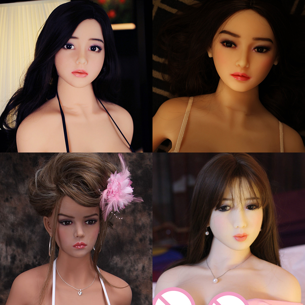 цены Hanidoll Sex Dolls Head for dolls Height standard 140~170cm Real silicone Love Doll Heads With Oral sex For Men sex dolt heads