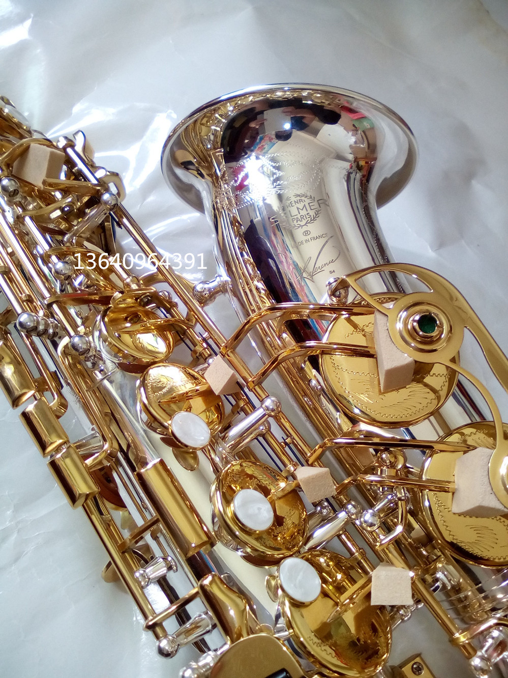France Henri profession Selmer High-Pitch E Alto Saxophone  Super Action 54 Series II Silver Gold key Plating Surface Saxofone alto saxophone selmer 54 brass silver gold key e flat musical instruments saxophone with cleaning brush cloth gloves cork strap