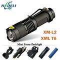 Мини Зум Led CREE XML T6 XM-L2 фонарик lanterna Led Факел Мощные Аккумуляторные Фонари 3800 Люмен Использовать 18650 батареи