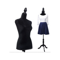 Black Foam Dress Form Mannequin Body Woman Bust Mannequin Model For Clothes Display SKU58647844