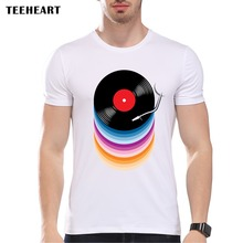 Rainbow colors vinyl records design men's t-shirt