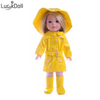 Luckdoll fashion new doll leather suit set for 18 inch American female doll doll accessories best gift for children