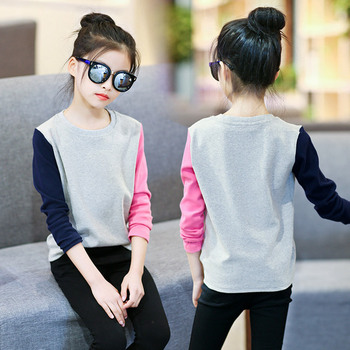 2354687c7 Camisetas de algodón para niñas moda 2018 Otoño Invierno niños Camiseta de  manga larga para niños ropa 3 5 6 8 10 12 años bebé niñas Tops