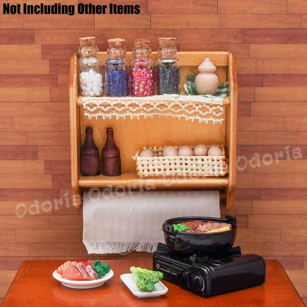 Odoria 112 Miniature Kitchen Wood Brown Wall