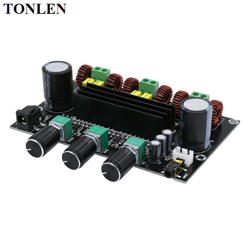 TONLEN 2.1 TPA3116D2 Digital Power Amplifier Board 24V 80W*2+100W High Power Audio Amplifier Module DIY HIFI Home Theater Amp shinco s 9008 home theater amplifier 5 1 audio high power digital amplifier