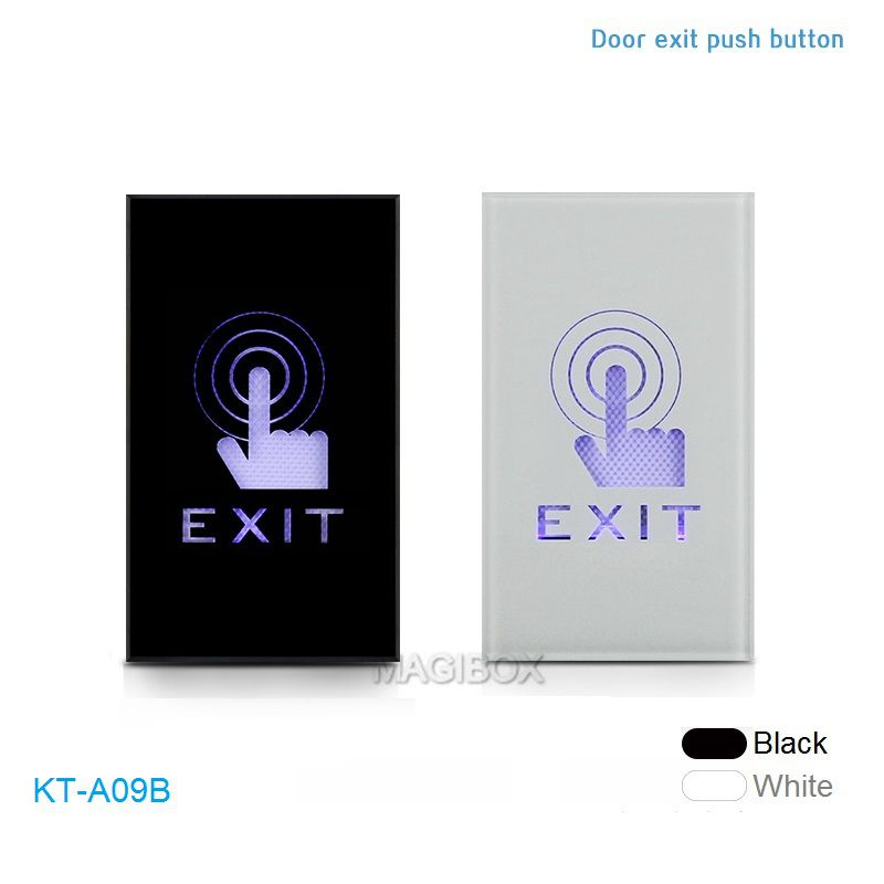 KT-A09B Narrow Panel Door Touch Exit Button Plexiglass Panel Infrared Induction Dual LED Indicator Access Control Exit Switch exit wound