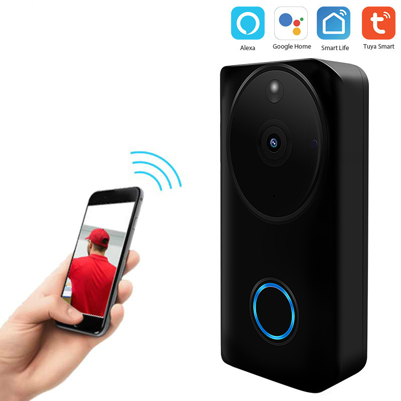 Graffiti Intelligent Wifi Door Bell Network Wireless Video Talk-to-Talk Camera 1080p Camera