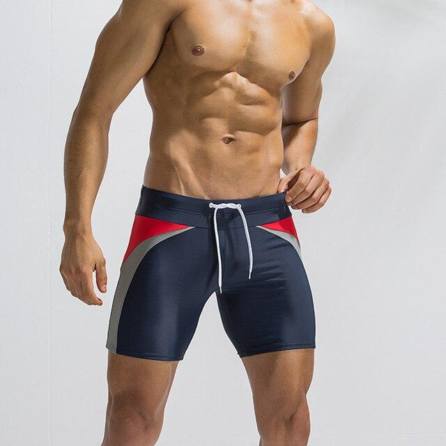 2018 новые мужские Купальники Sexy низкой талией мужские пляжные шорты Плавки Шорты мужчины плавать спортивные трусы купания скользит Большие размеры