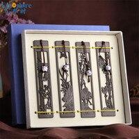 4 teil/satz hochwertigen Massivholz Retro Holz Lesezeichen Vintage Lesezeichen für Schreibwaren M005