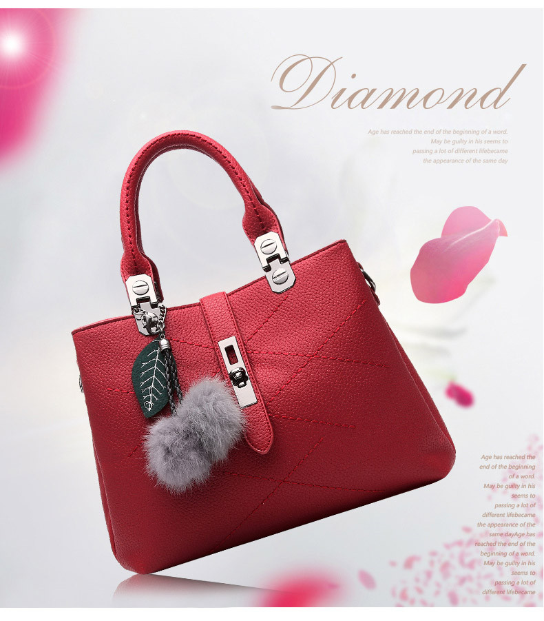 DIZHIGE Brand Fashion Fur Women Bag Handbags Women Famous Designer Women Leather Handbags Luxury Ladies Hand Bags Shoulder Sac 2