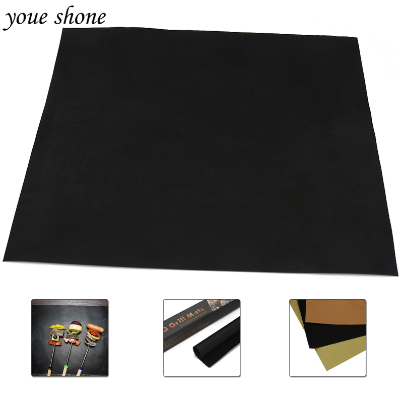 2017 Reusable Non-Stick bbq grill Mat accessories available Baking Sheet Meshes Portable Outdoor Picnic Cooking Barbecue Tool