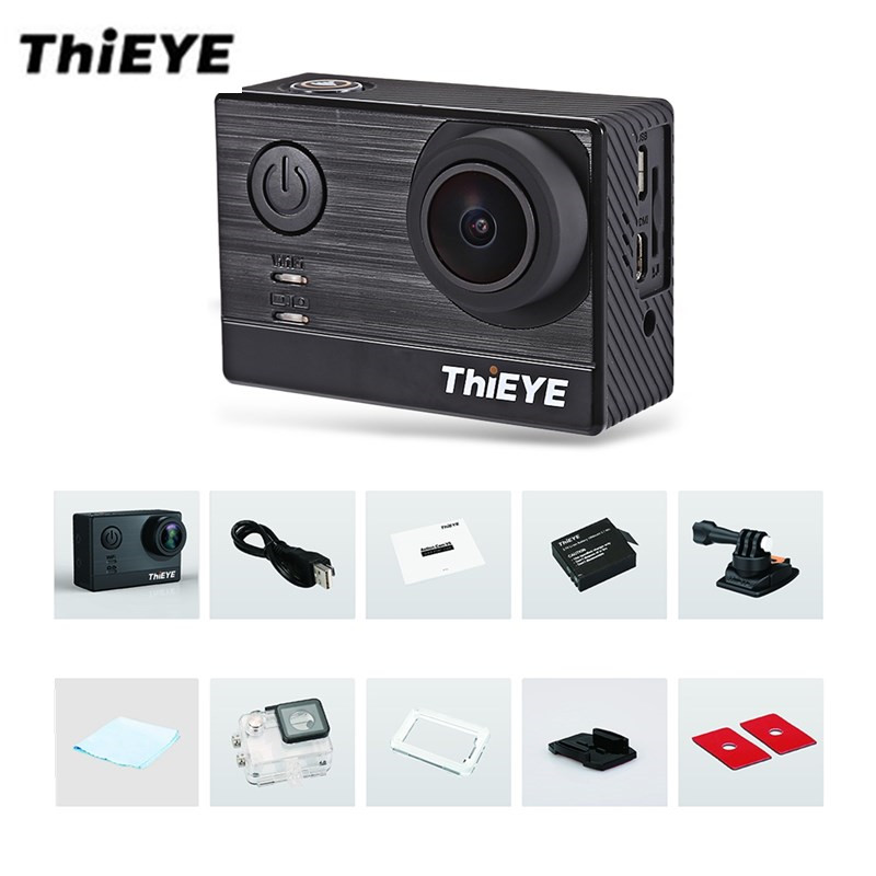 ThiEYE T5e WiFi 4K 30fps Action Camera 12MP 2 inch TFT LCD Touch Screen 1080P Sports Ambarella A12LS75 Chipset IMX117 Sensor HD thieye i30 wifi 1080p 30fps 1 5 tft lcd action camera водонепроницаемый рекордер для автомобилей dvr