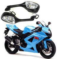 For Suzuki GSXR Motorcycle Rearview Rear View Mirrors for Suzuki GSXR 600 750 1000 2006 2010 with LED Turn Signal Light K6 K7 K8